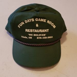 Vintage green Cobra caps game room hat